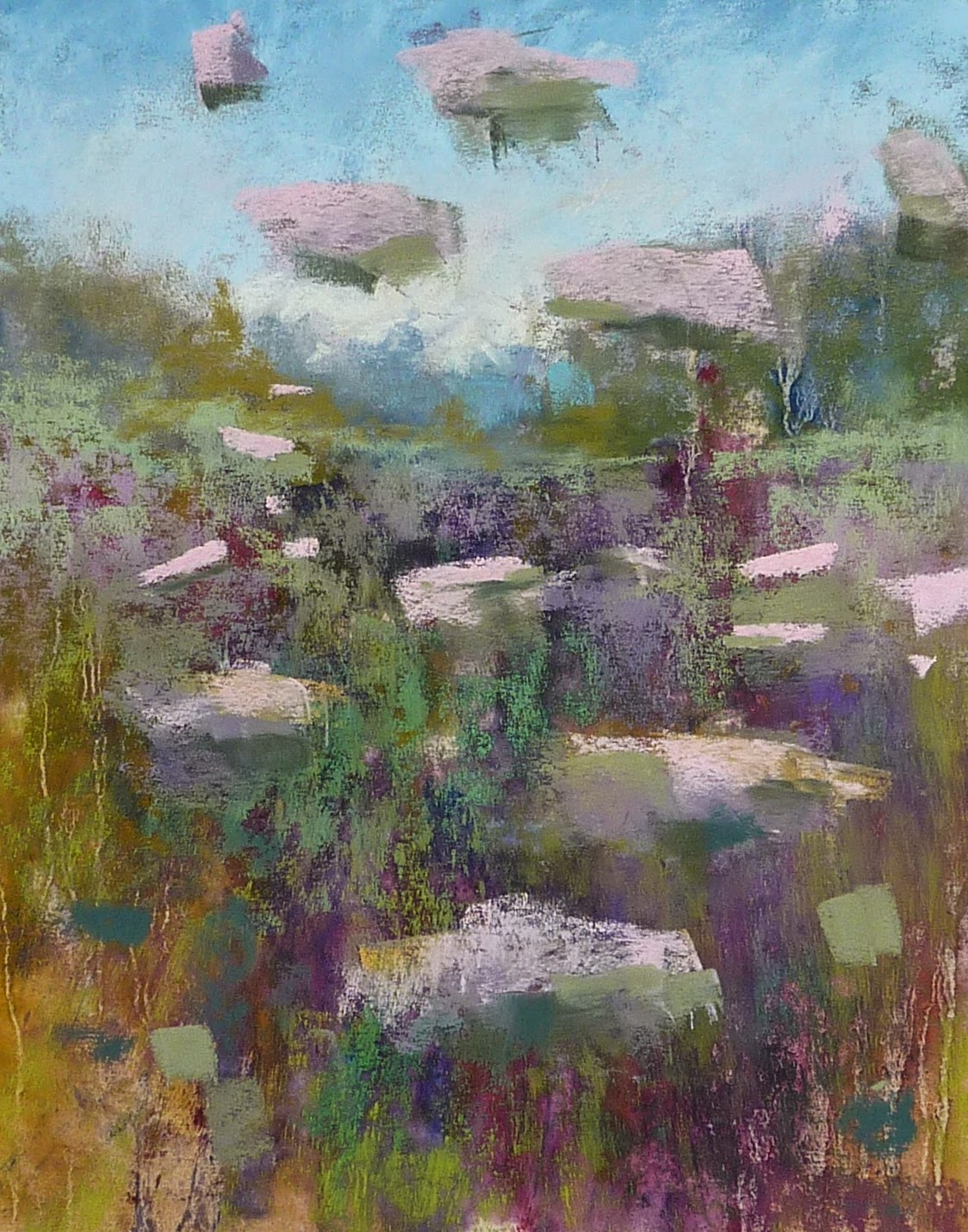 painting my world monday pastel demo queen anne s lace