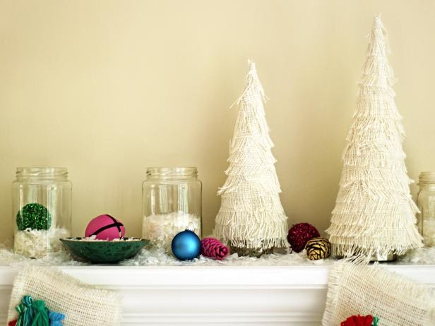 Modern furniture how to make a fringed christmas tree White christmas centerpieces