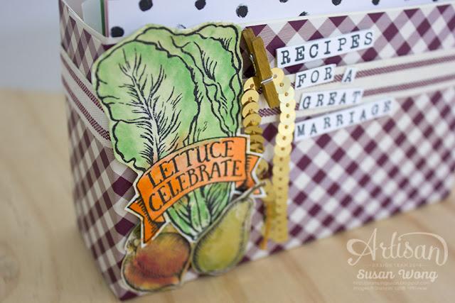Market Fresh Recipe Card Box (detail) ~ Susan Wong