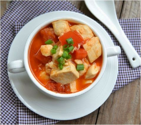 Cách làm đậu phụ xốt cà chua đơn giản mà ngon