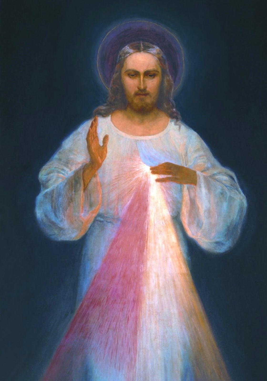 Imagem de Jesus Misericordioso, da devoção da Divina Misericórdia.