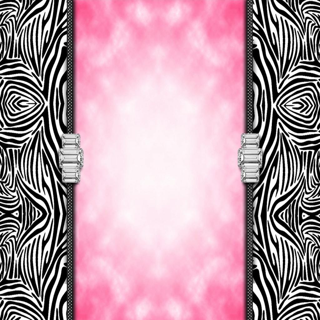 walliepad wallpapers for ipad zebra print bling ipad. Black Bedroom Furniture Sets. Home Design Ideas