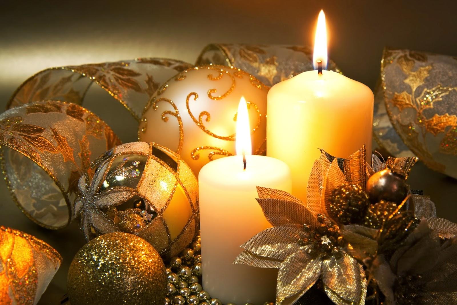 centros de mesa de navidad con velas parte 3