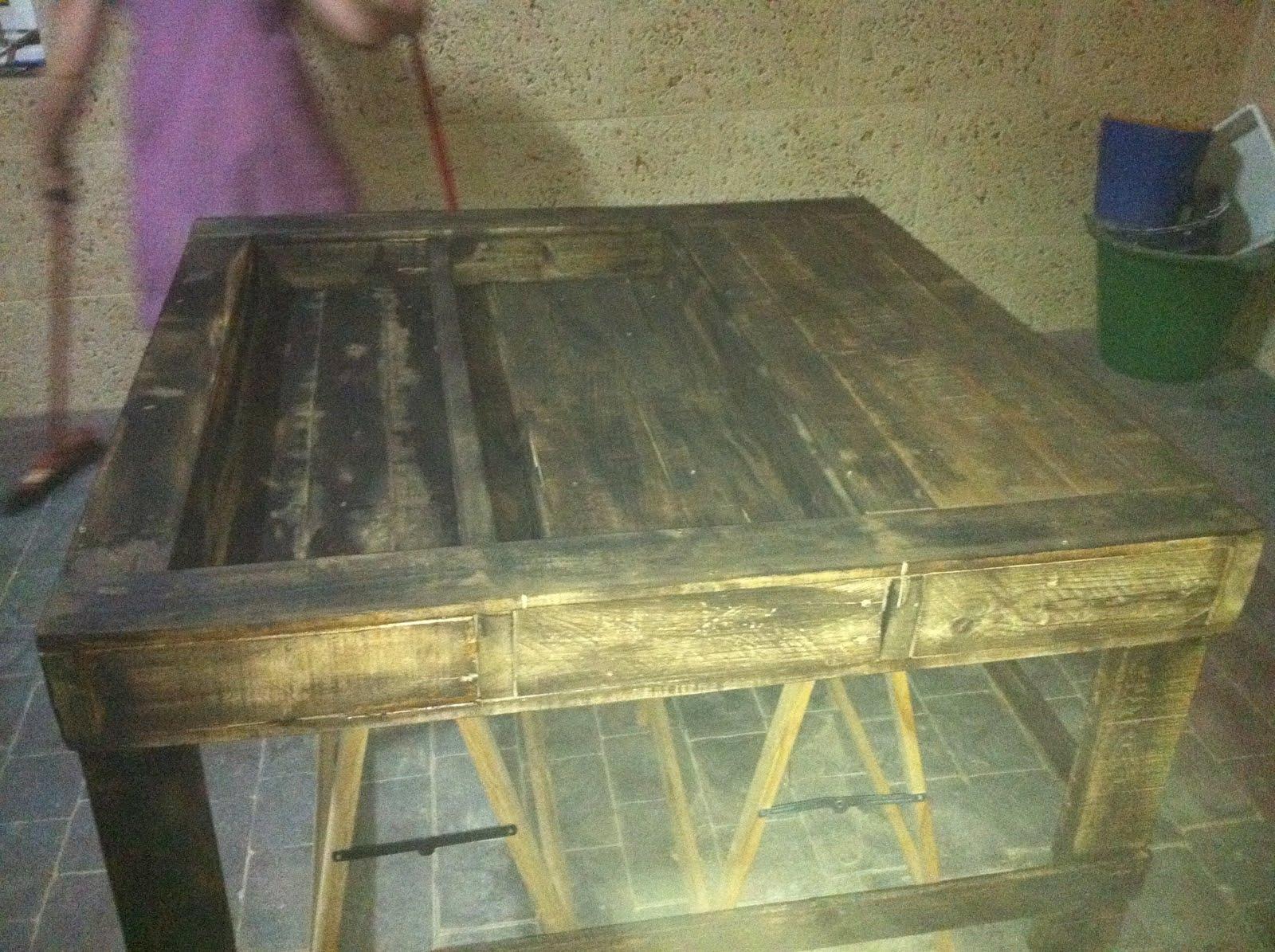 Bricomatias mesa de bricolaje con palets - Mesa de palets bricolaje ...