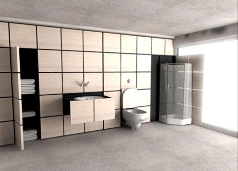 Модульная ванная комната в стене!