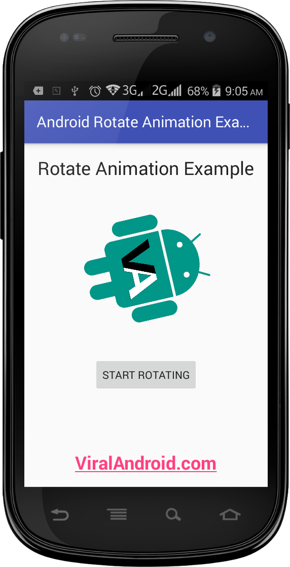 Rotate Animation Example: How to Rotate an Image in Android using XML Animation