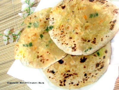 stuffed vegetable paratha