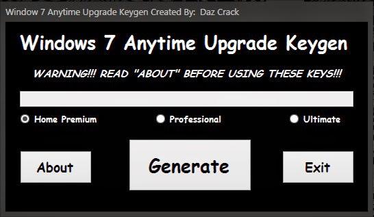 Windows 7 Anytime Upgrade Keygen Programı Full İndir