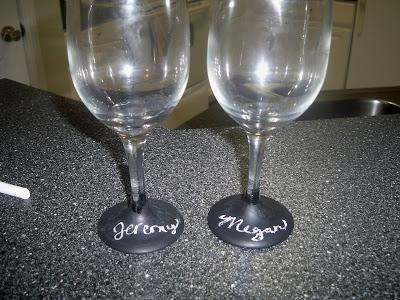 Chalkboard Paint Wine Glasses Washable