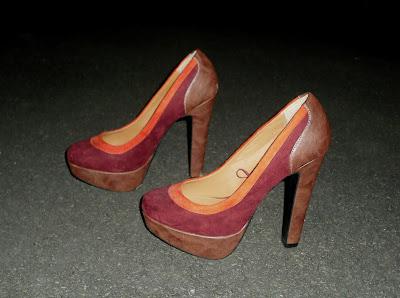 Sammi Jackson - faux suede & leather heels