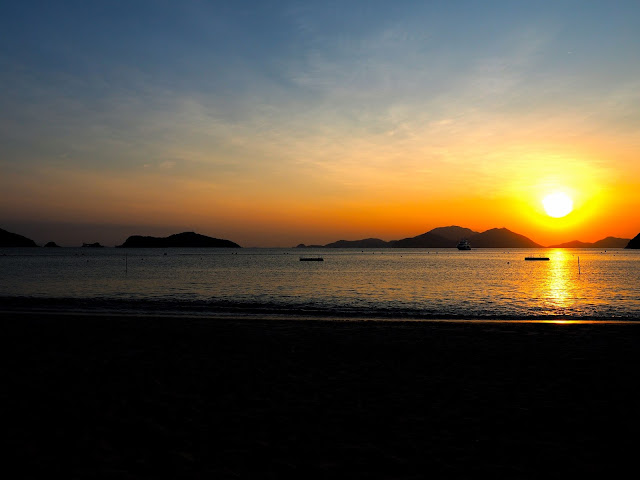 Sunset on Repulse Bay Beach, Hong Kong