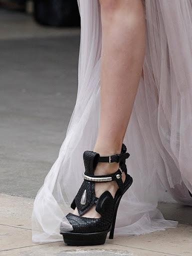 черни обувки на платформа Alexander McQueen