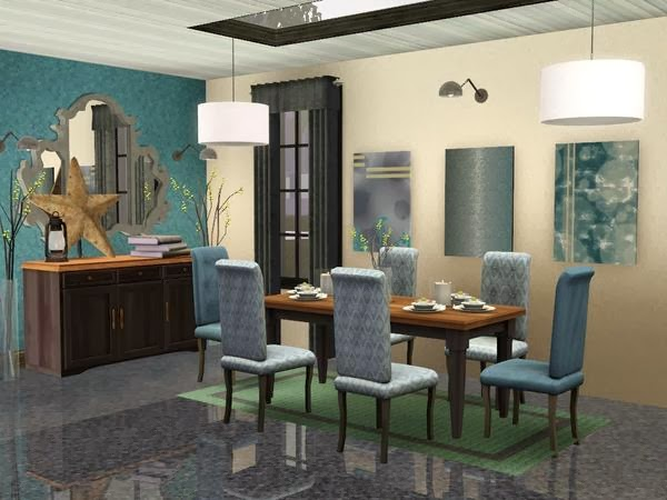 My sims 3 blog sim man123 39 s midtown dining room for Sims 3 dining room ideas