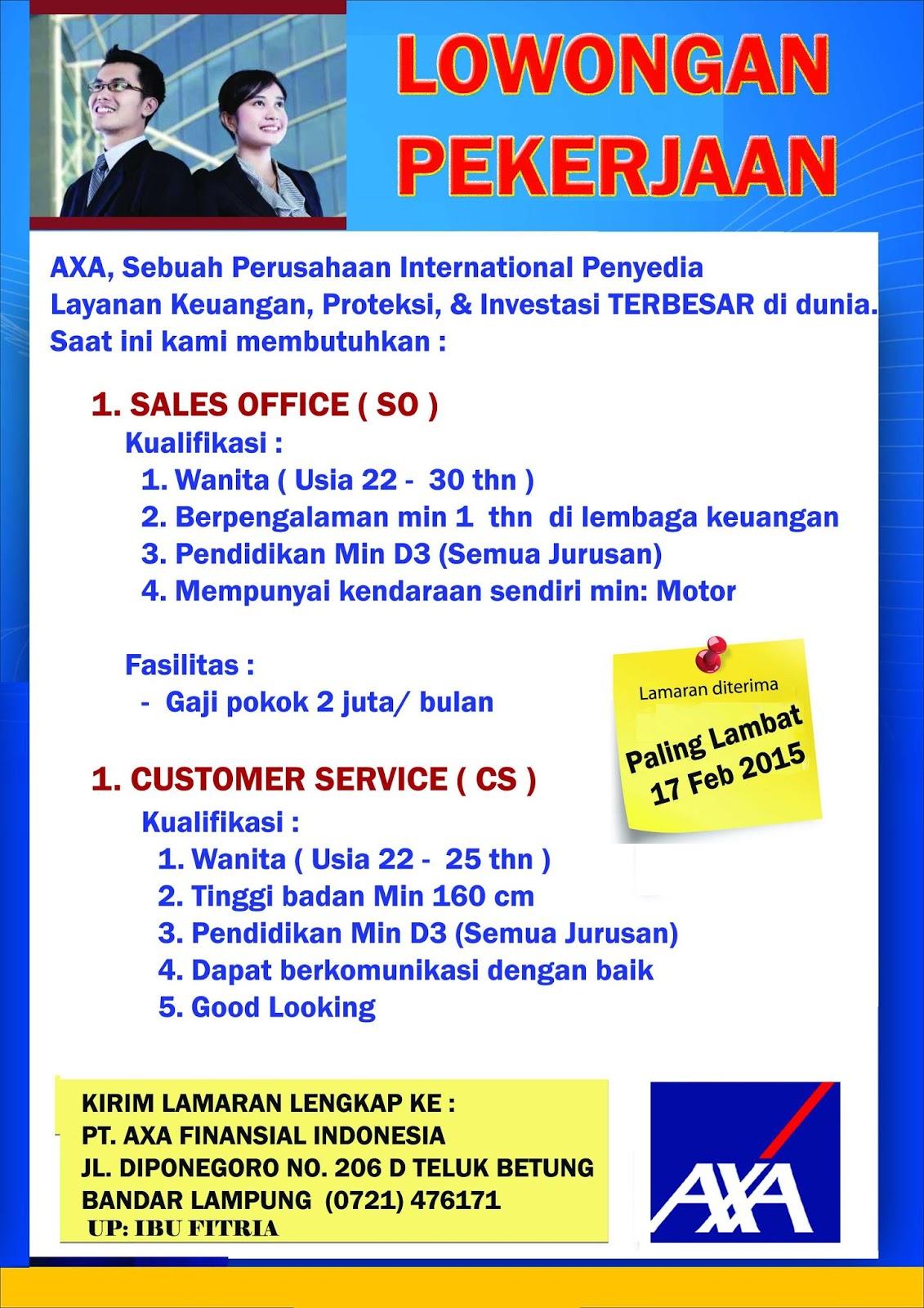 Bursa Kerja di PT. AXA Finansial Indonesia