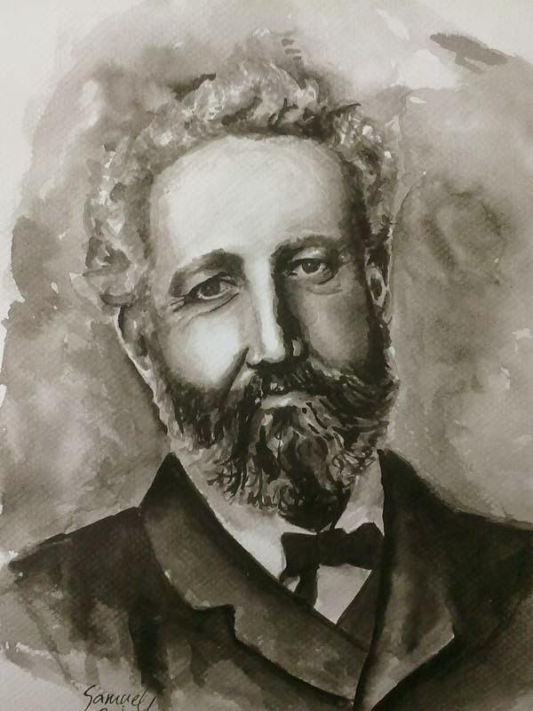 retrato de Julio Verne