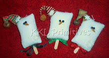 SET OF 3 - ICE CREAM BAR SNOWMEN
