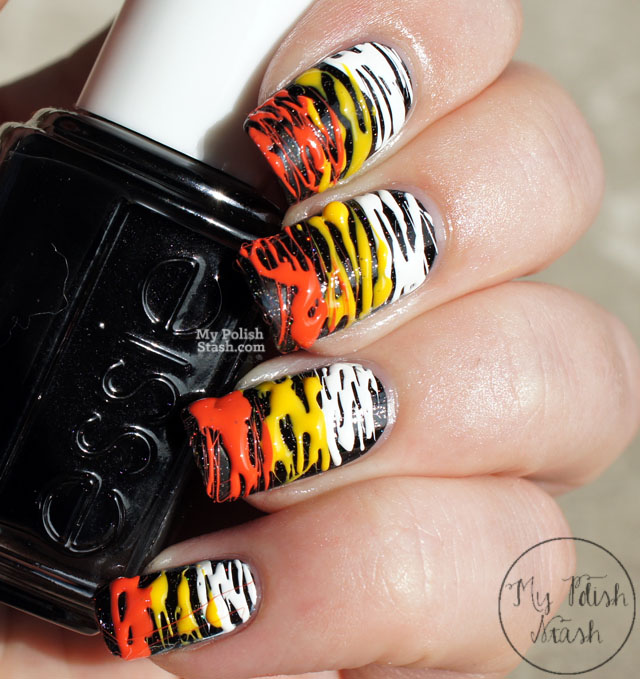 sugar spun candy corn nails