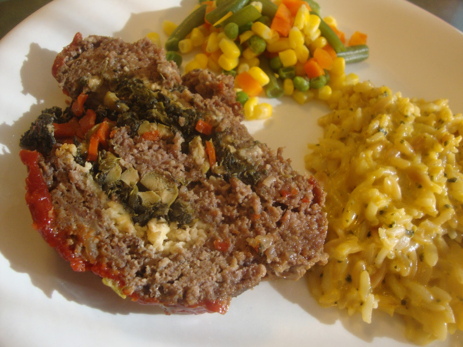 ... Slow Cooker Adventures: Spinach, Feta and Green Olive Stuffed Meatloaf