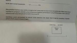 Sejumlah Wali Murid Pertanyakan Surat Pernyataan Dari SDN Citeureup 04