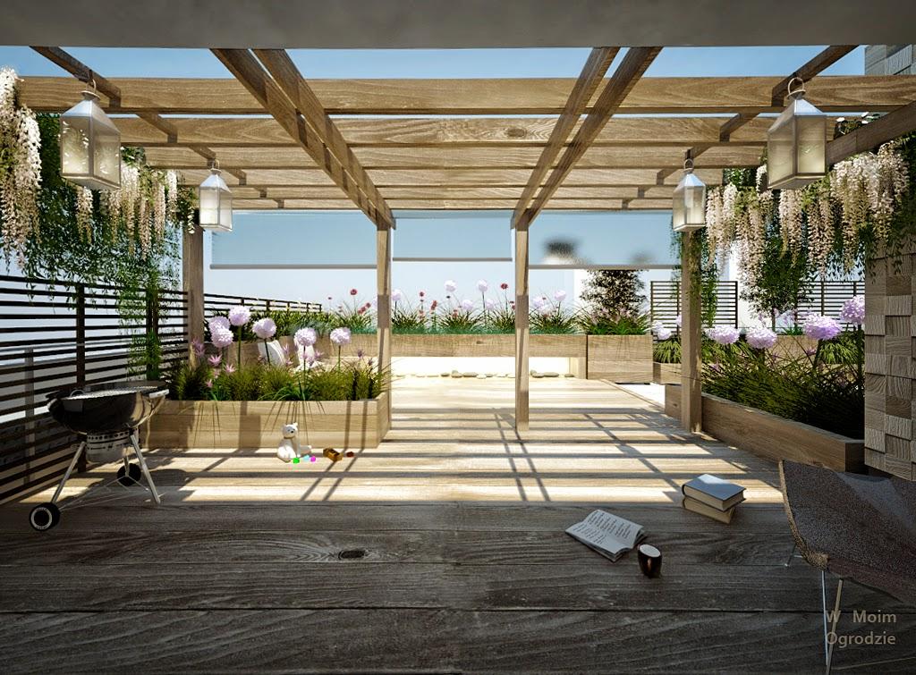 projekty ogrodow na dachach, warszawa