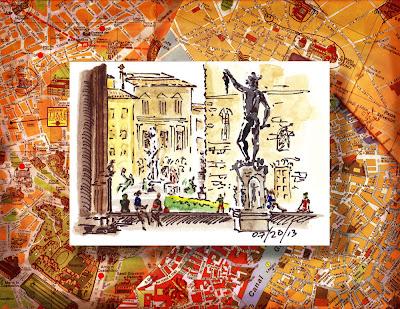 plaza statues