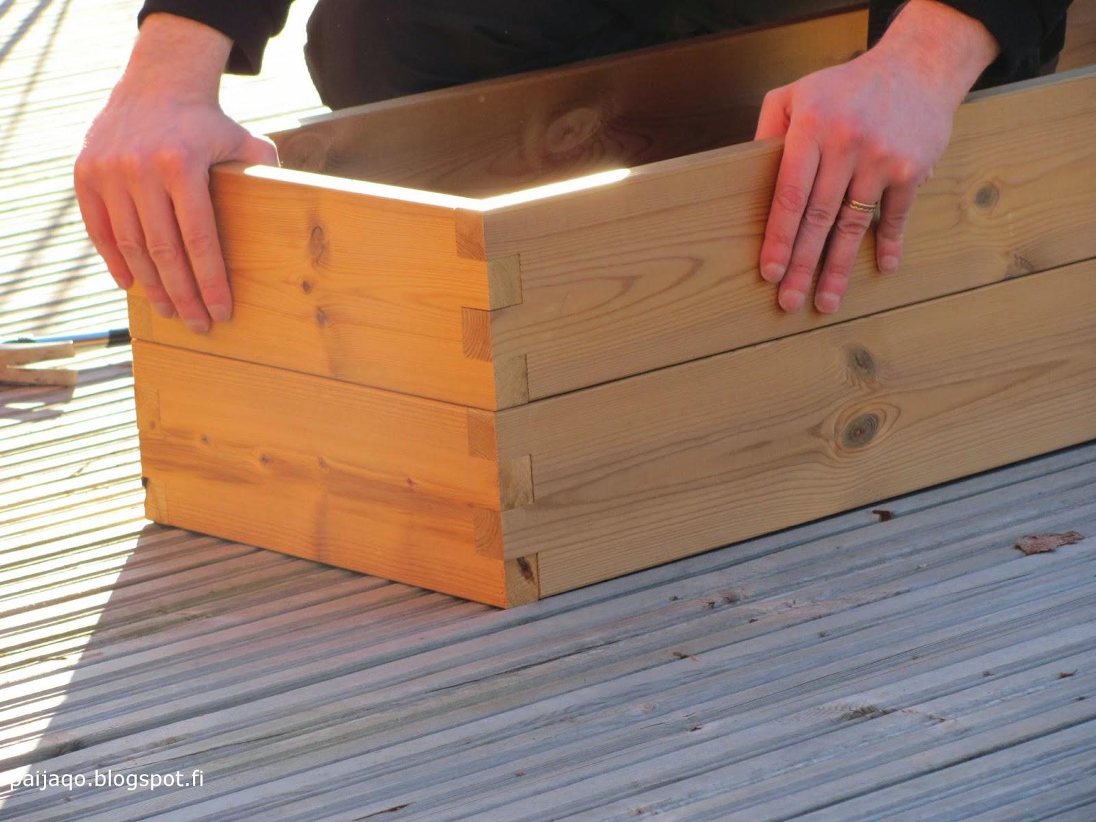 kekkilän viljelylaatikko - kokoaminen