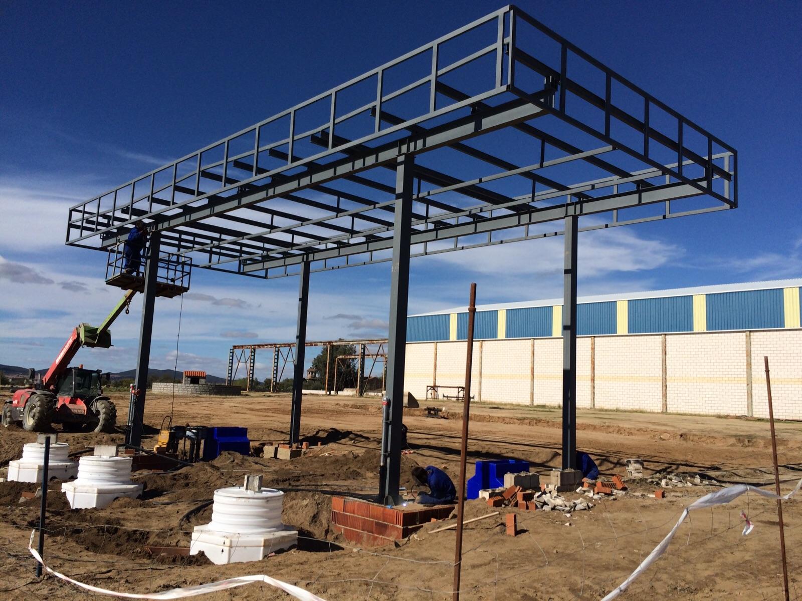 Estructura metalica para techo affordable estructuras for Estructuras metalicas para tejados