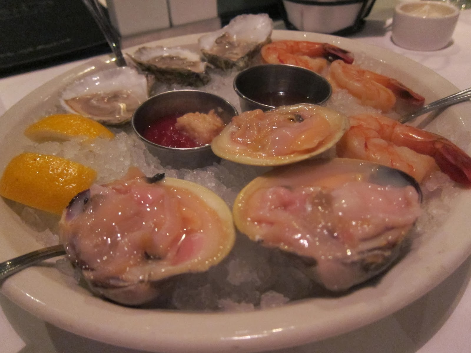 Shellfish Sampler at FISH Restaurant in Marlborough, MA | The Economical Eater