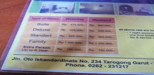 Tarif Hotel Alamanda