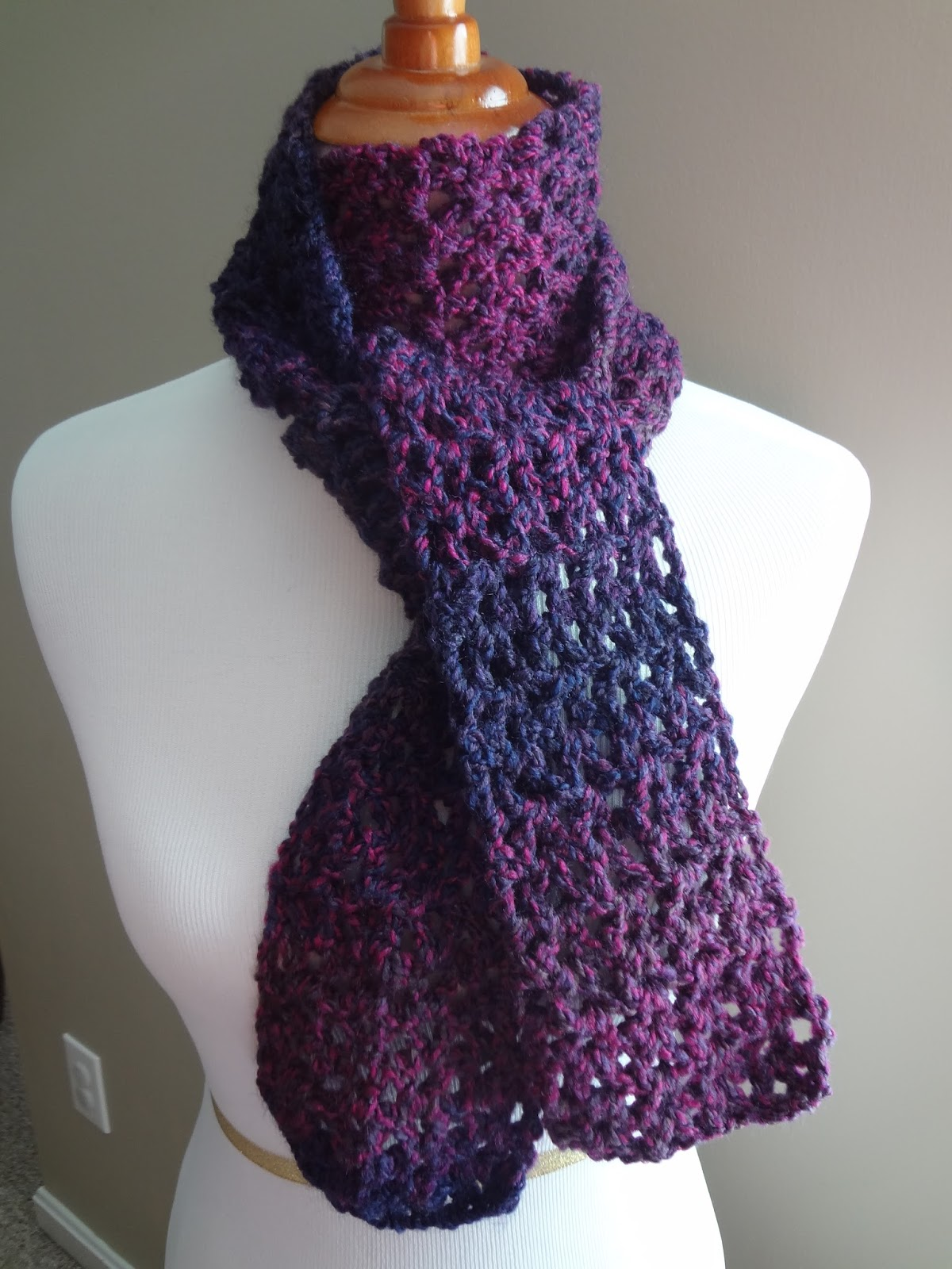 Crochet A Scarf : Fiber Flux: Free Crochet Pattern...Blueberry Pie Scarf!