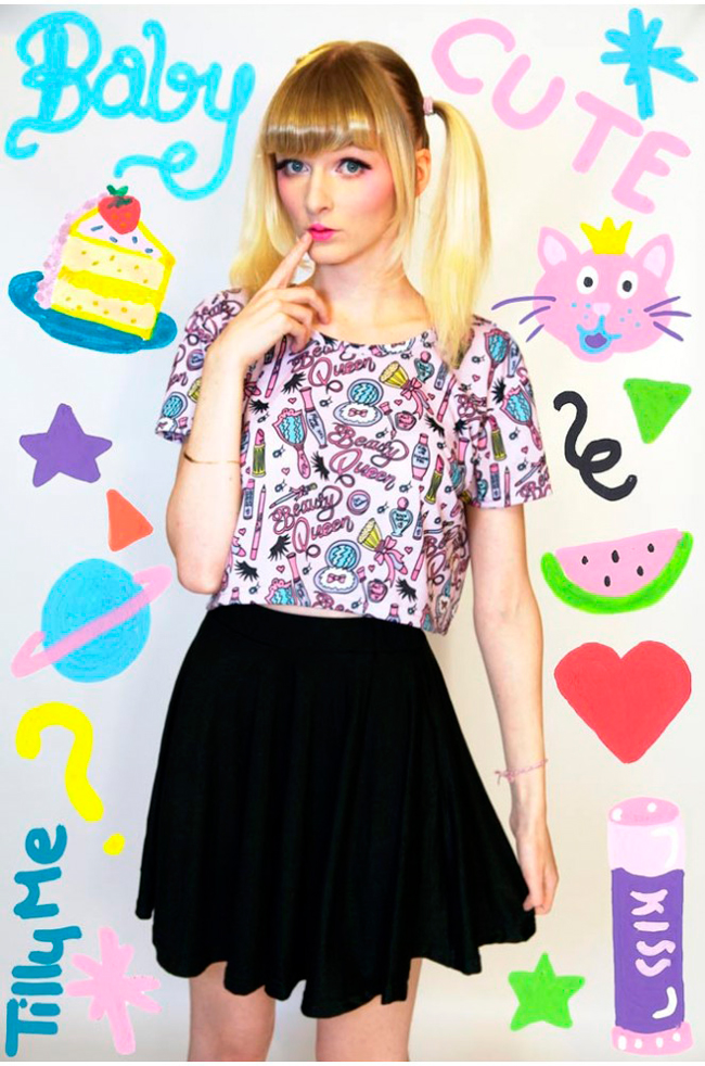 Tilly Me, Barbie print, Cute fashion