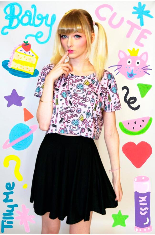 Tilly Me, Barbie print, Cute fashion