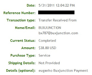 Pagamento BuxJunction - PTCs em Prática