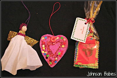 Children's Christmas hand made decorations