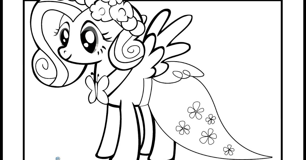 Fantastic Fluttershy Dress Coloring Pages Illustration - Resume ...