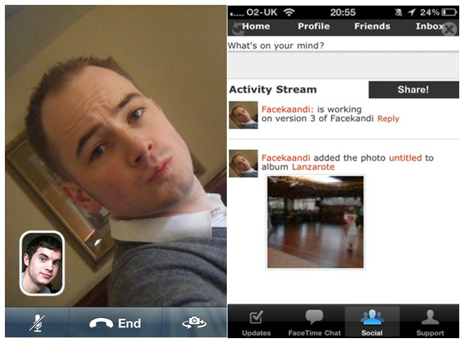 A free and fantastic application for your iPhone and iOs like Facetime called Facekandi!