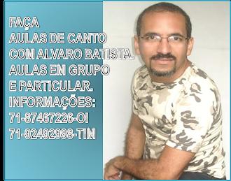 AULAS DE CANTO COM ALVARO BATISTA