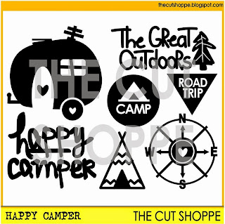 Happy Camper Cut File Set