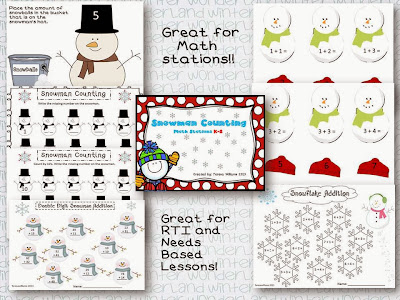 http://www.teacherspayteachers.com/Product/Snowman-Counting-985292