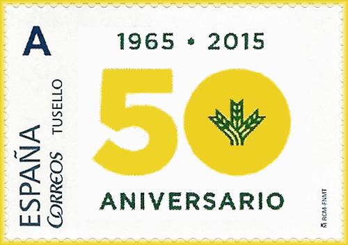 Sello personalizado del  50 Aniversario de la Caja Rural de Asturias