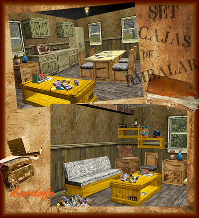 my sims 3 blog packing boxes living dining set by kardofe. Black Bedroom Furniture Sets. Home Design Ideas