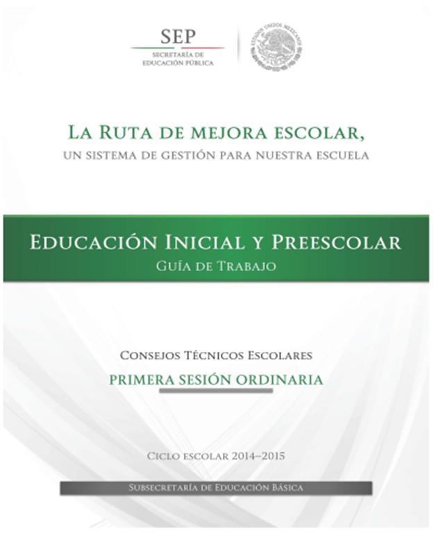 Guía de Trabajo ~ Educación Inicial y Preescolar