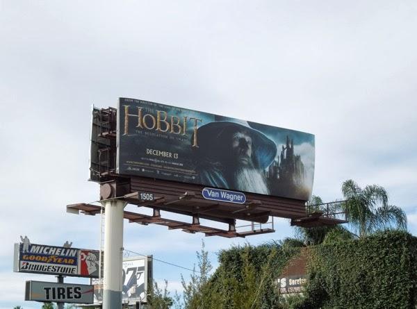 Hobbit 2 Desolation of Smaug Gandalf billboard