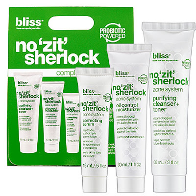 "Bliss, Bliss Spa, Bliss No ""Zit"" Sherlock Facial, Bliss facial, facial, skin, skincare, skin care, Bliss skincare, Bliss skin care"