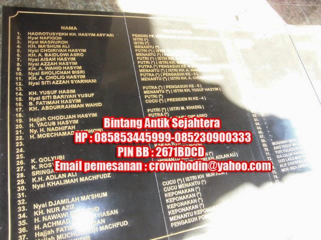 Prasasti Pemakamam Keluarga Gus Dur Jombang