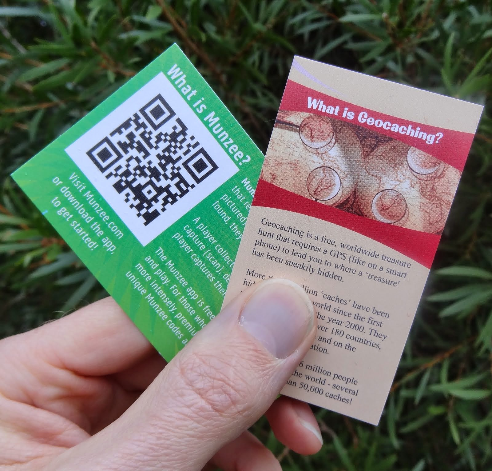 Geocaching and Munzee Awareness Cards
