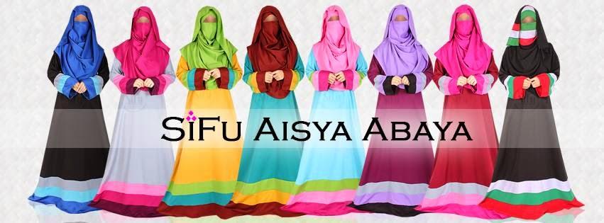 Aisya Abaya Ready Stok atau Pilih gabungan warna kesukaan sendiri