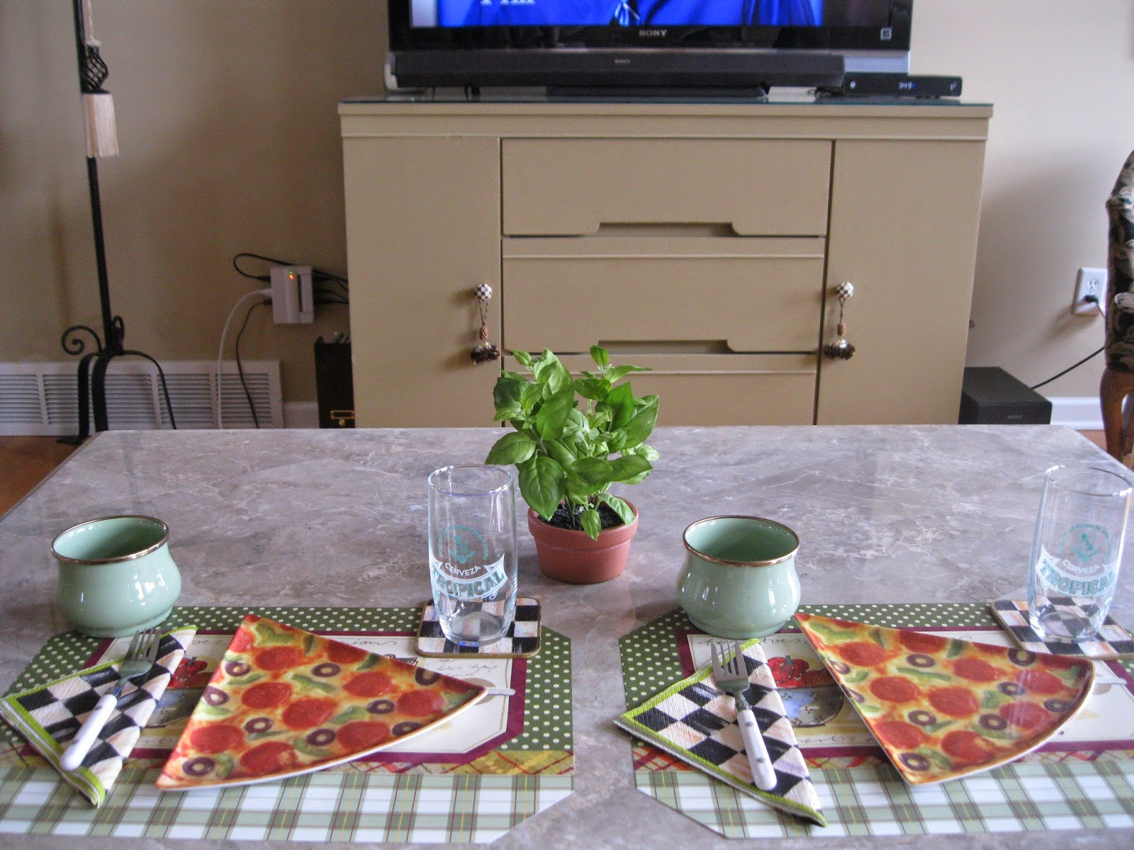 These pizza plates are over 25 years old and I use them quite often & Pandorau0027s Box: Pizza Night in front of the TV...
