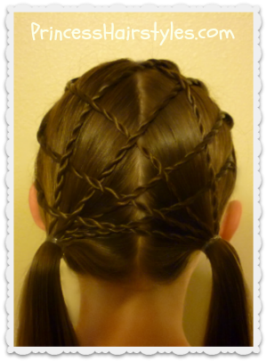 woven pigtails with rope braids