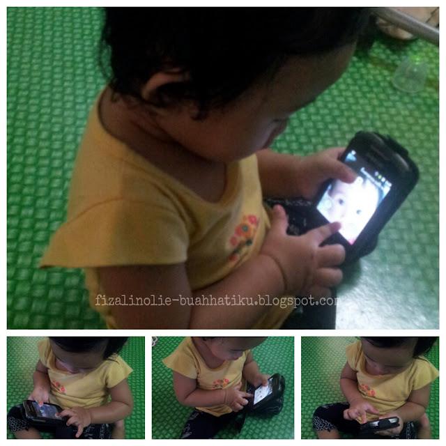 bayi dan handphone,